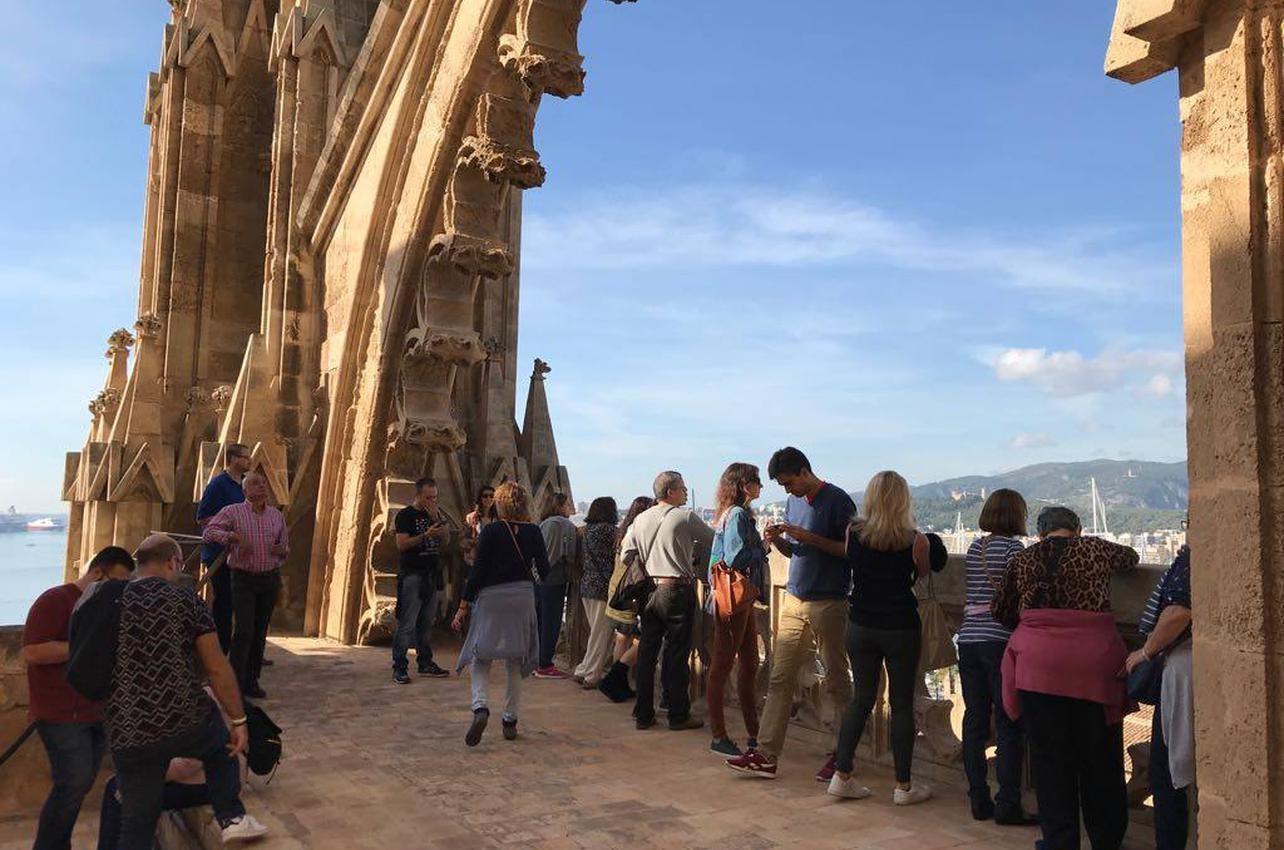 Las visitas de las terrazas se organizan de abril a octubre. Foto: Catedral de Palma.