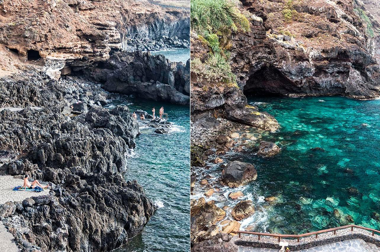 Costa El Sauzal es una playa rocosa pero de aguas cristalinas, perfecta para un baño especial. Foto: Yanira Quintero