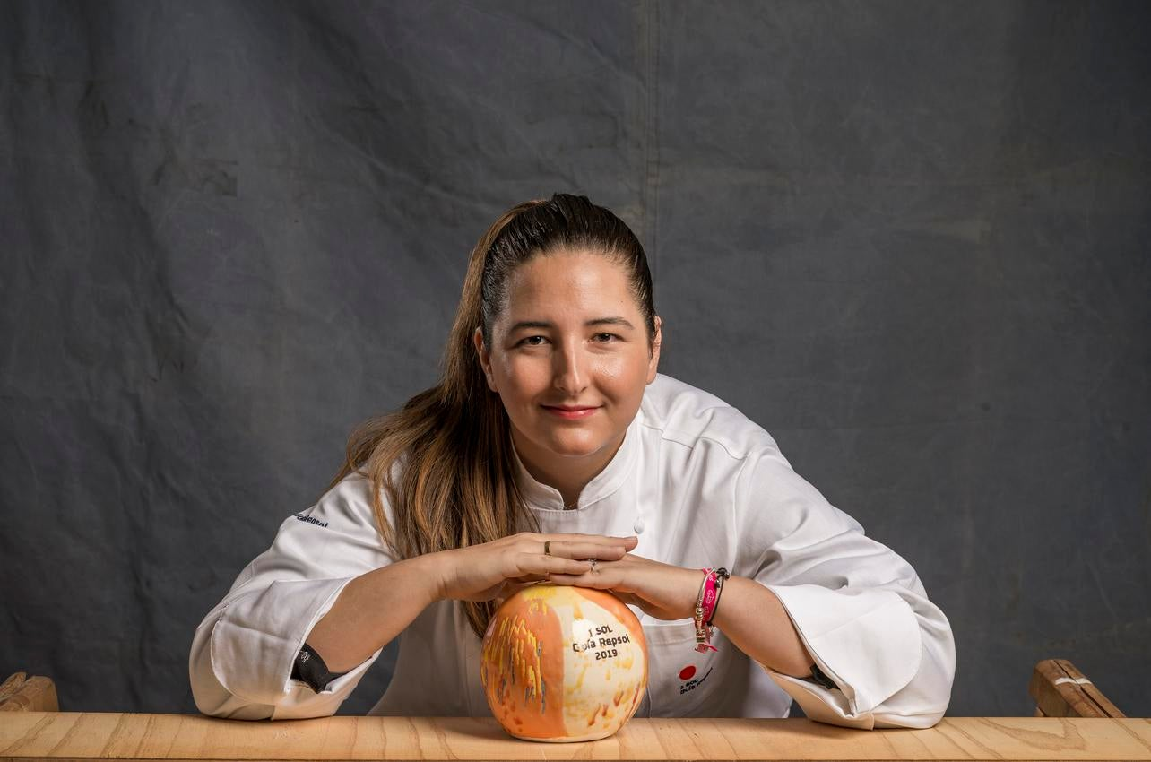 Marisa Gómez con su sol por Magoga concedido en 2019