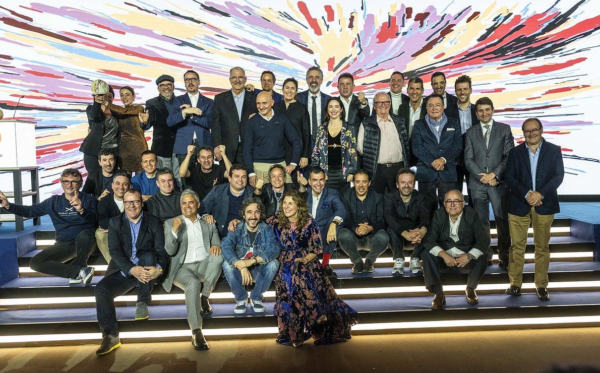 Gala Soles Guía Repsol 2020. Foto familia