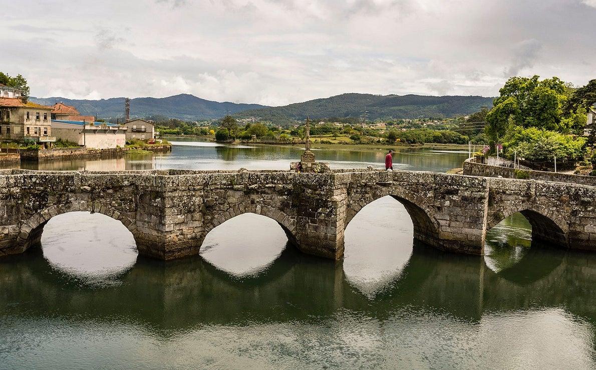 Fotos en el Camino Portugués: Puente románico de Ramallosa