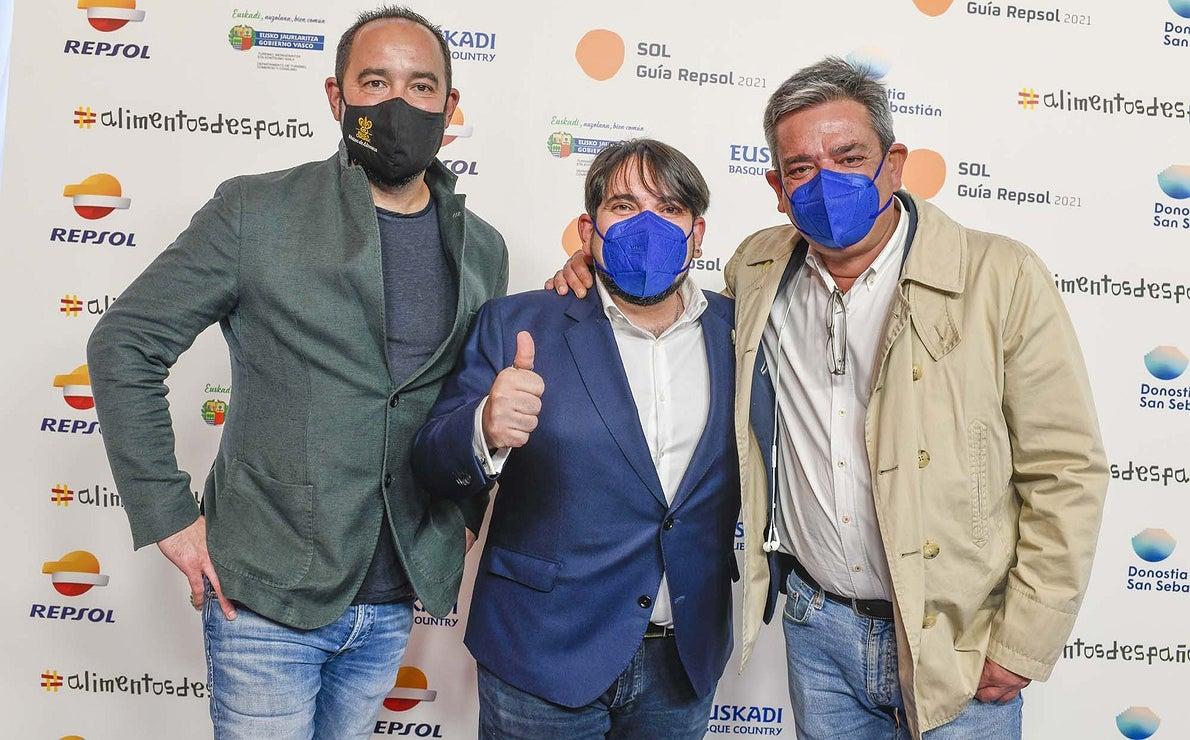 Samuel Moreno ('Molino de Alcuneza'), Jose Manuel Gallego ('Clandestina de las Tendillas') y Víctor Sánchez-Beato ('Víctor Sánchez-Beato').