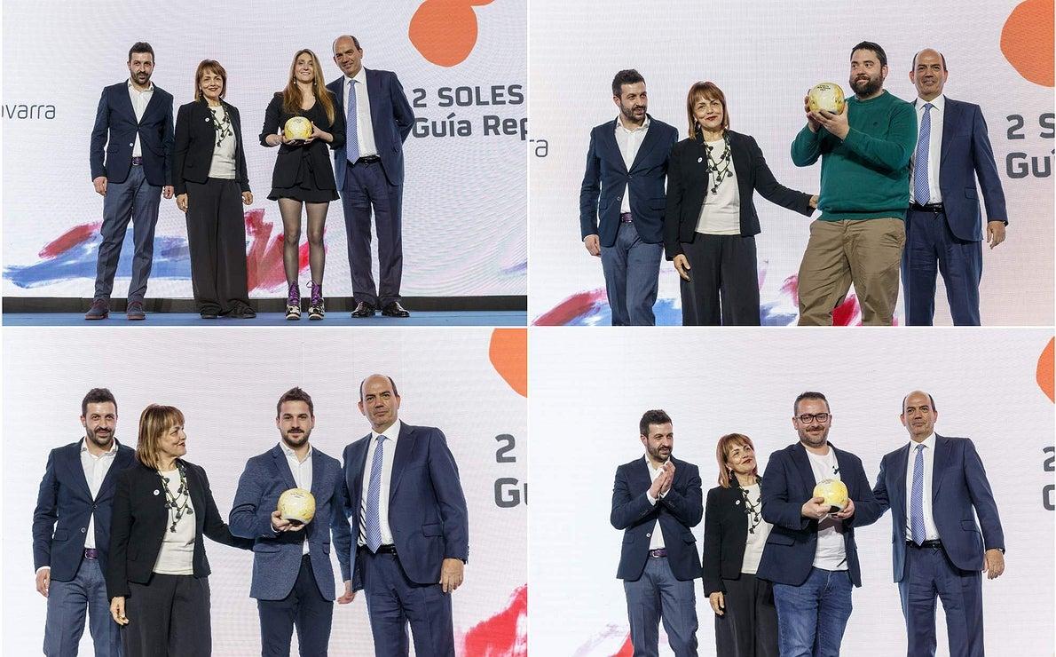 Gala Soles Guía Repsol 2020. 2 Sol collages. Pedro Sánchez
