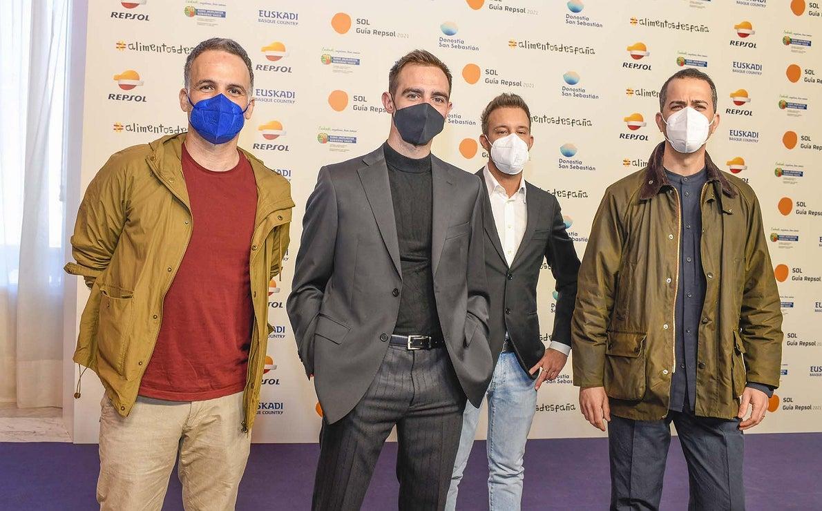 Vicente Feito ('Ca Suso'), Agustín González ('Enklima'), Davide Bonato ('Gioia') y Giavanni Pinto ('Noi Restaurante').