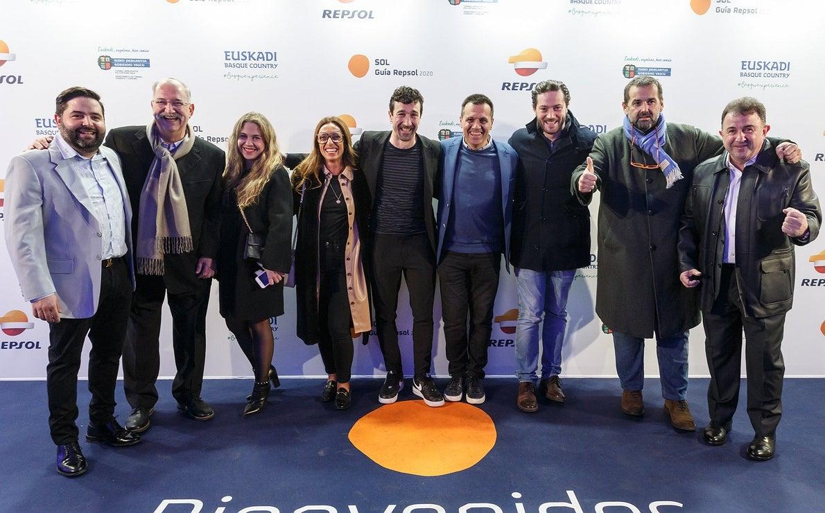 Photocall Gala Soles Guía Repsol 2020. Juanlu Fernández, Pedro Subijana, Eneko Atxa, Oriol Castro y Martín Berasategui