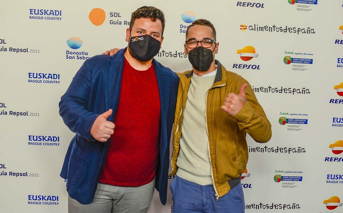 Photocall. Juanma Salgado ('Dromo') y Miguel Ángel Sánchez ('Eustaquio Blanco').