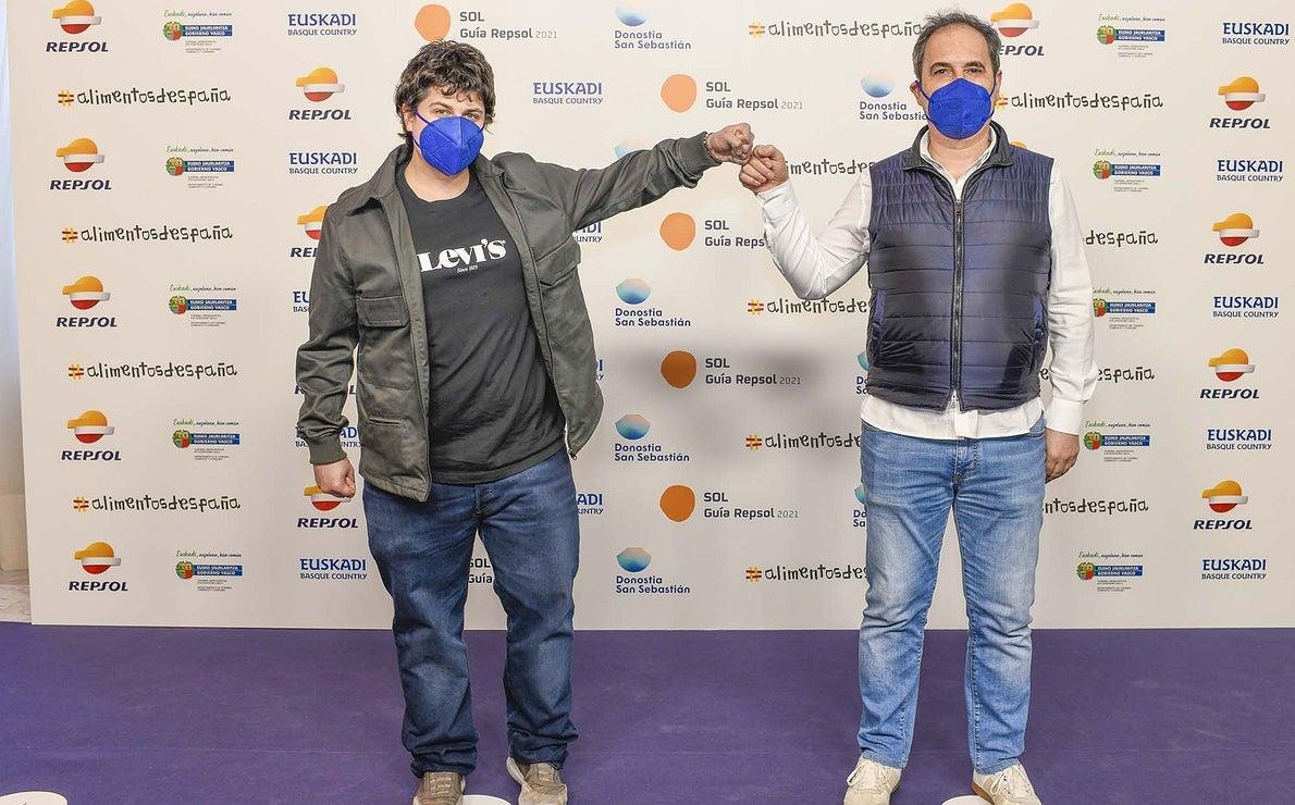 Photocall. Aitor Etxenike ('Kromatiko') y Aitor Rauleaga ('Aitor Rauleaga').