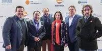 Photocall Gala Soles Guía Repsol 2020. Pedro y Marcos Morán, Hilario Arbelaitz, Elena Arzak y Diego Guerrero