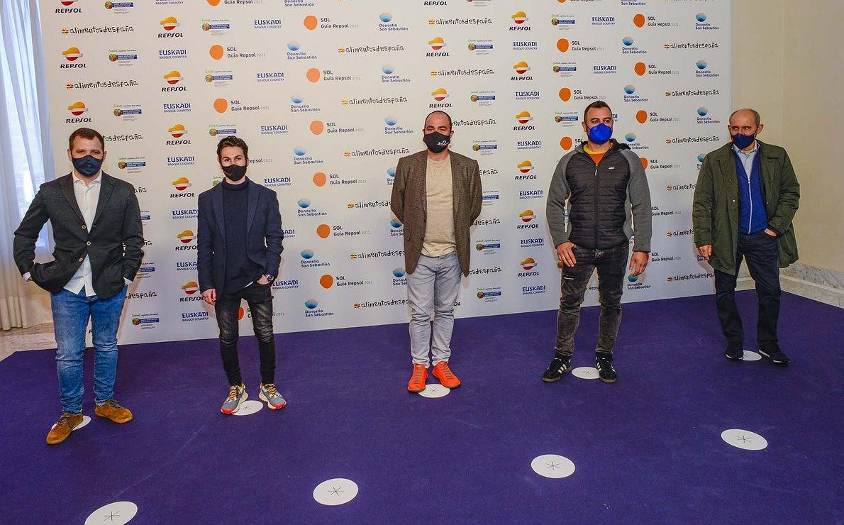 Miguel Carretero ('Santerra'), Samuel Naveira ('Muna'), Samuel Moreno ('Molino de Alcuneza'), Rafa Bergamo ('Kuoco 360') y Paco Pérez ('Miramar').