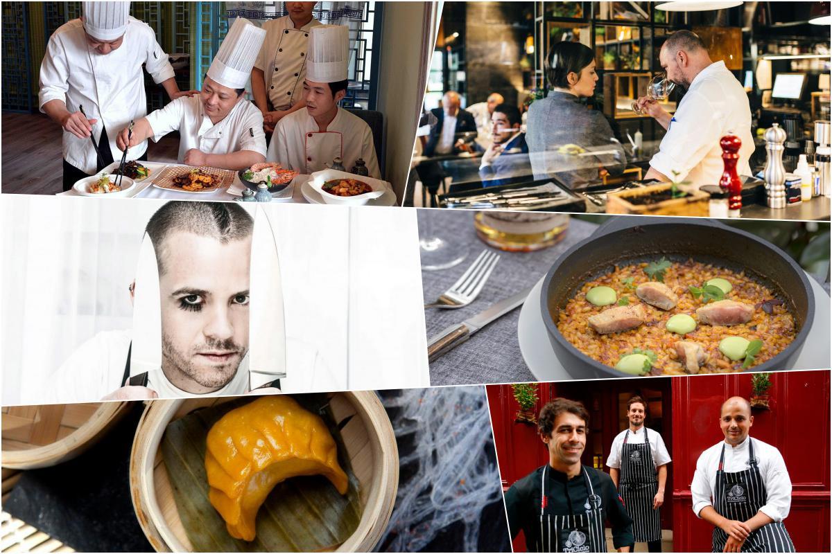Collage donde comen los cocineros en Madrid