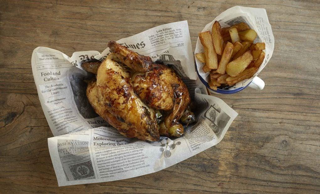 El pollo asado de La Brochette. Foto: La Brochette.