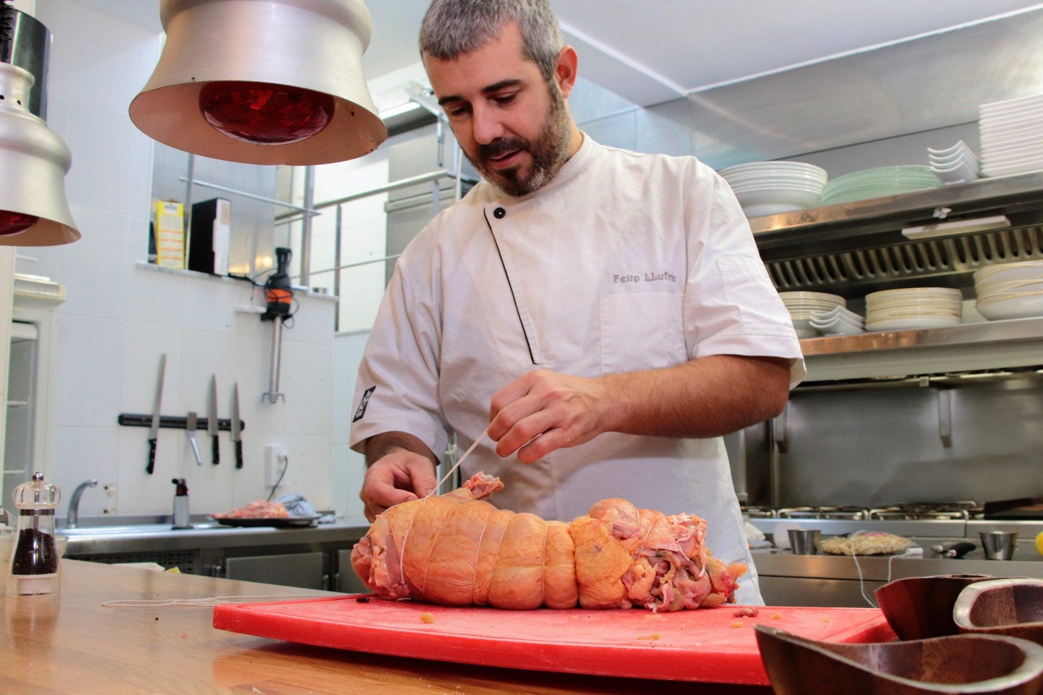 El chef Felip Llufriu.