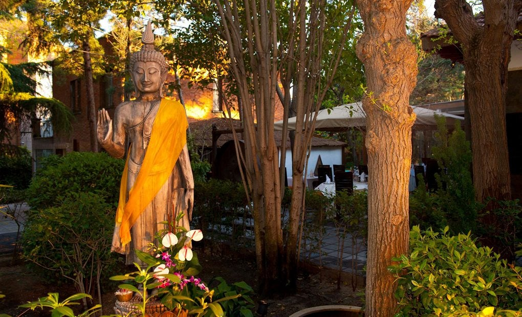 Jardín del restaurante Thai Garden. Foto: Thai Garden. Facebook.