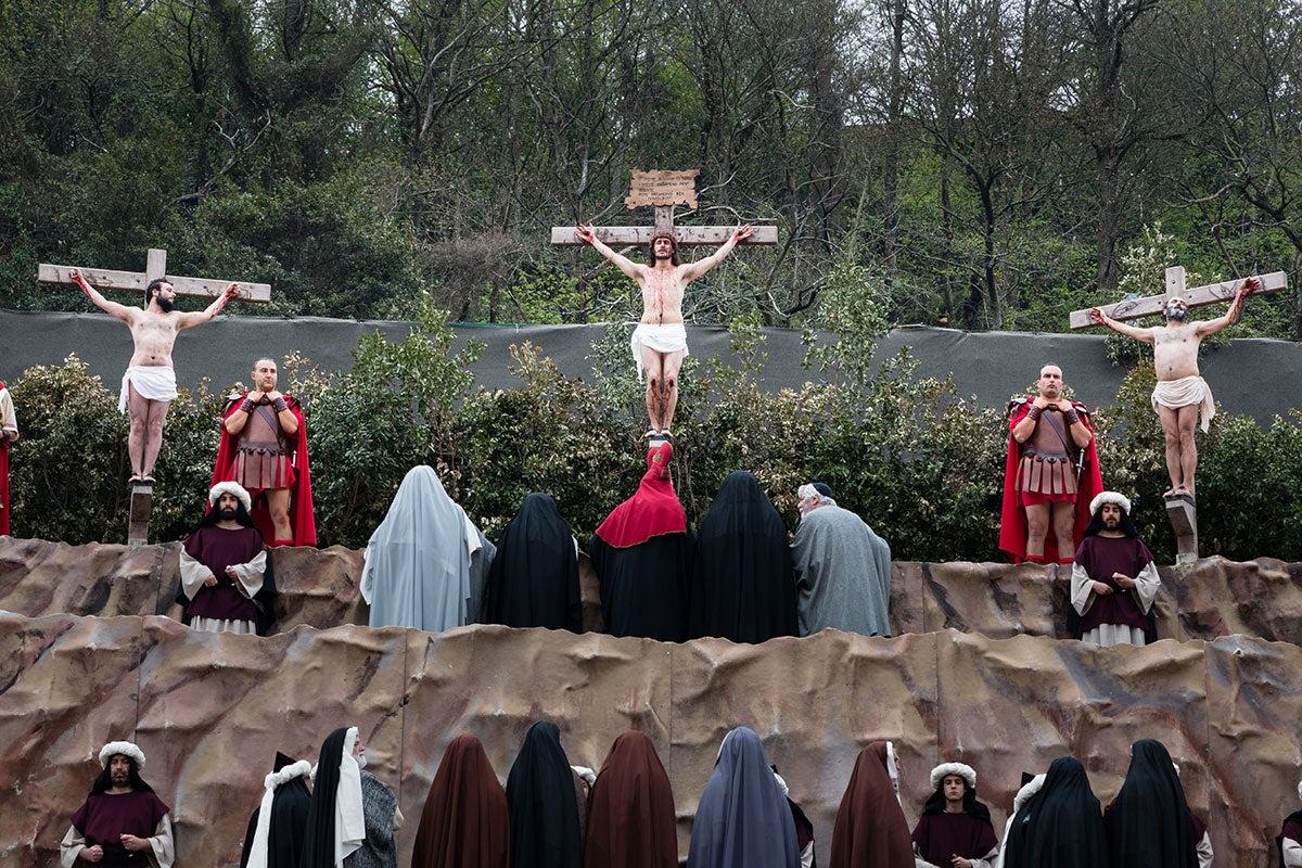 Representación en Balmaseda en 2017. Foto: Asociación Vía Crucis Balmaseda