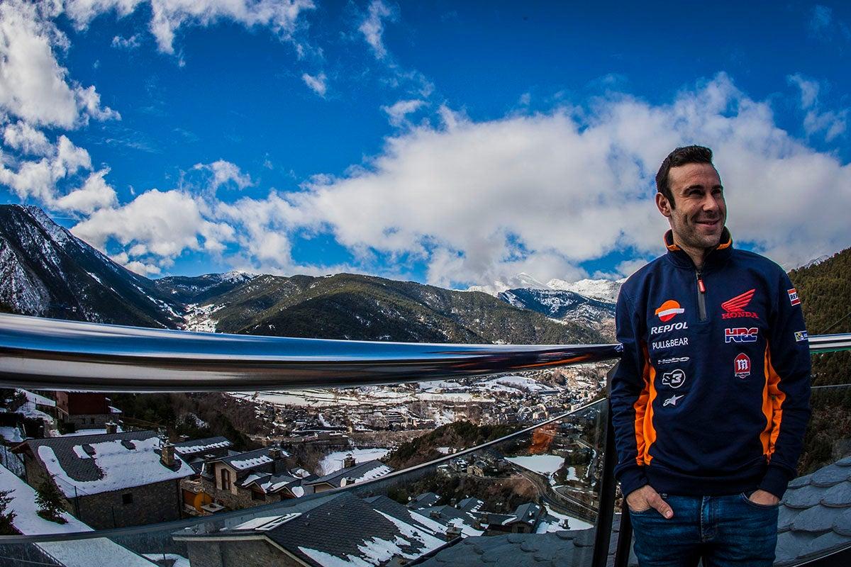 Toni Bou en su casa de Andorra.