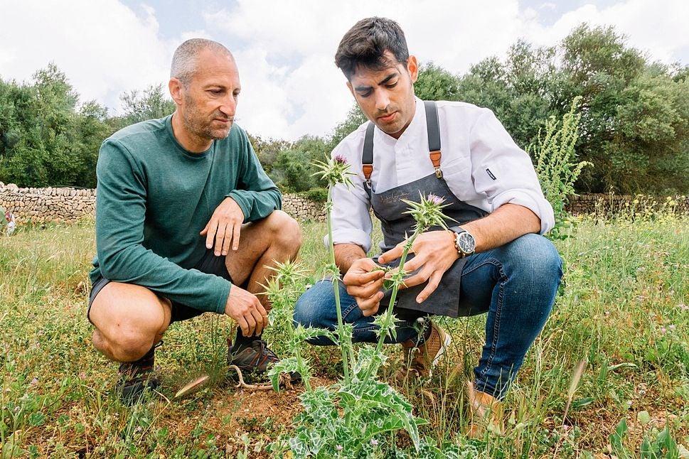 El etnobotánico Juan González y el cocinero Andreu Genestra