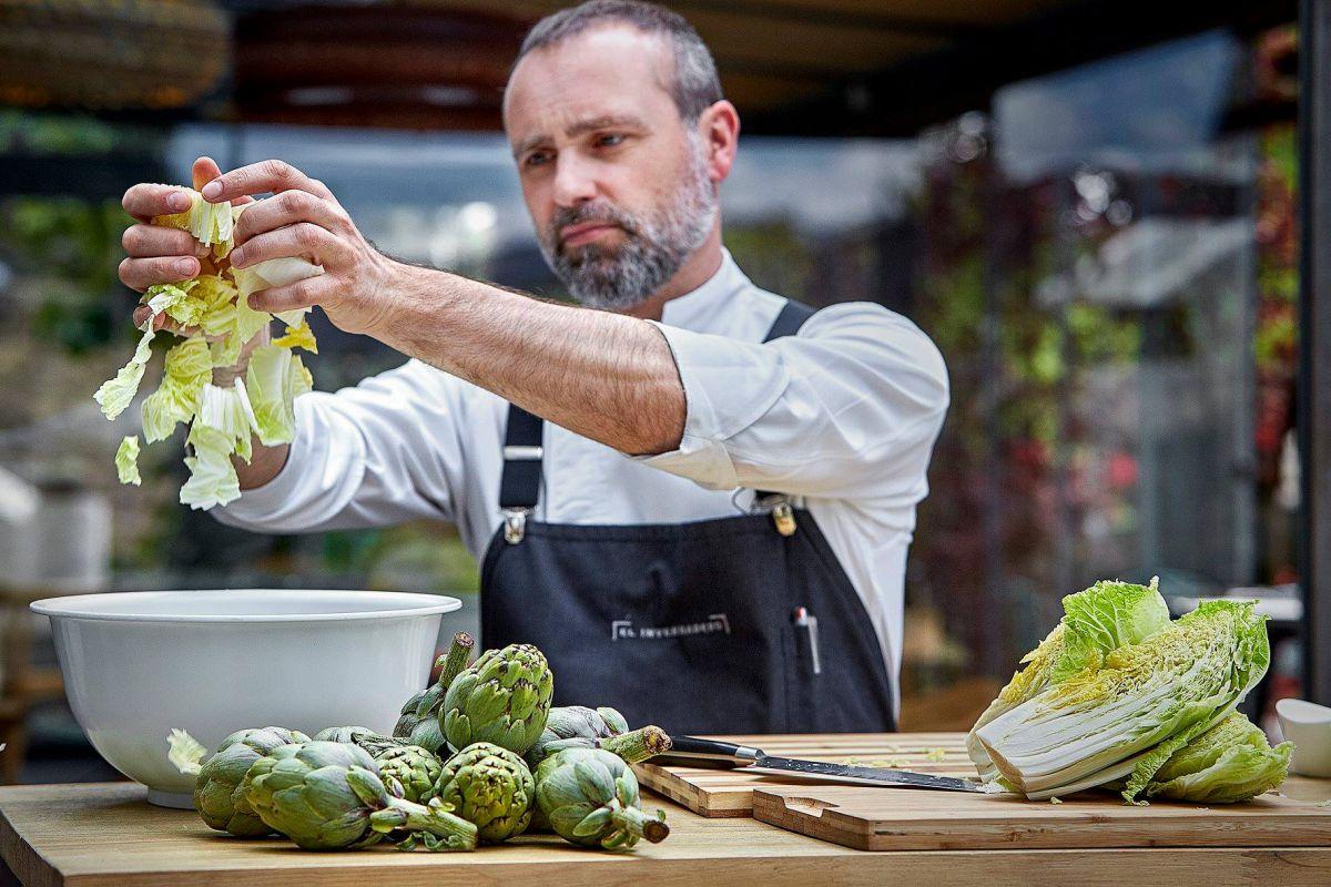 El chef madrileño apuesta todo al verde.