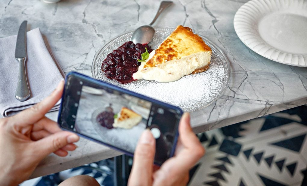 Tarta de queso semilíquida.