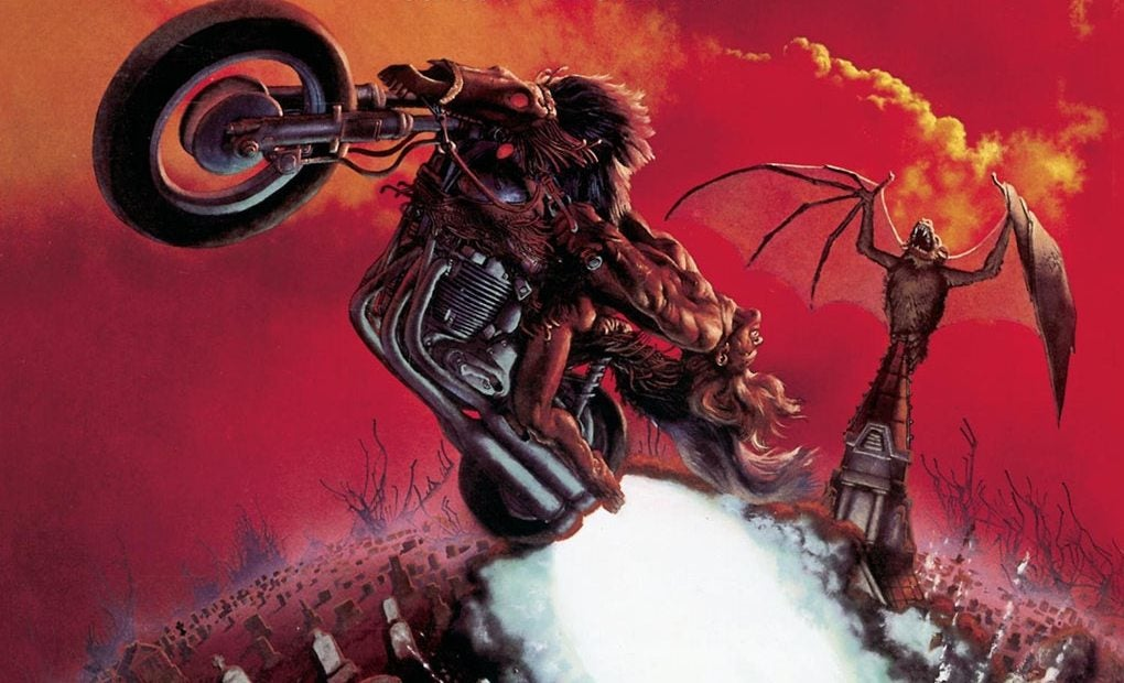 Carátula de 'Bat out of hell' de Meat Loaf.