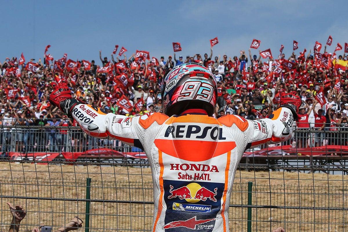 El piloto Marc Márquez en el GP de Aragón. Foto: Repsol