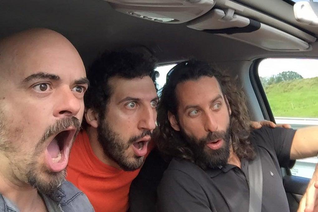 En el coche, rumbo a un concierto en Bilbao. Foto: Facebook