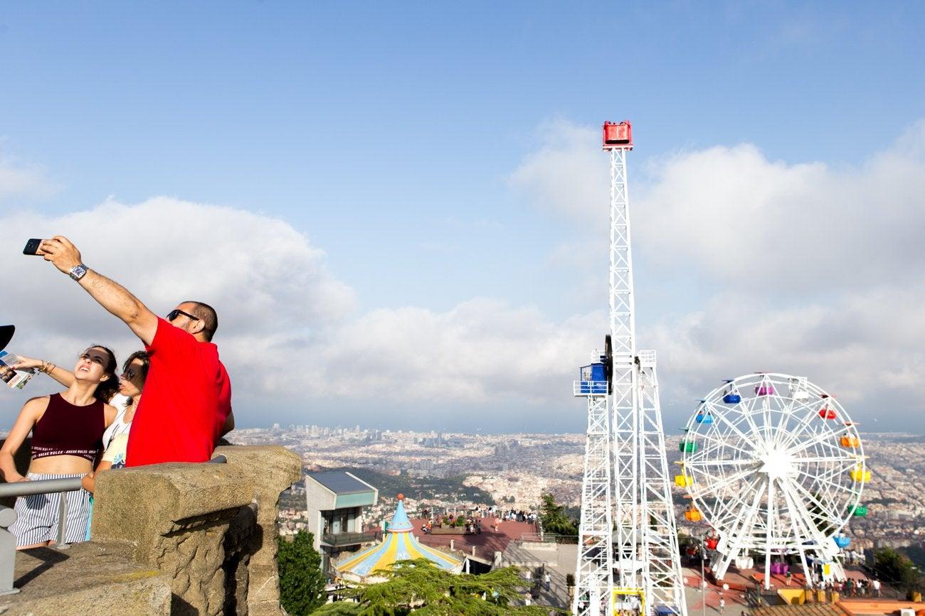 Selfie de César Cid. Parque de Atracciones del Tibidabo (Barcelona)