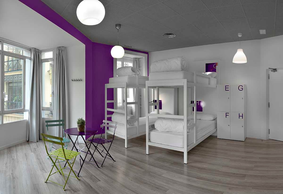 Dormitorio de U-Hostels, Madrid.