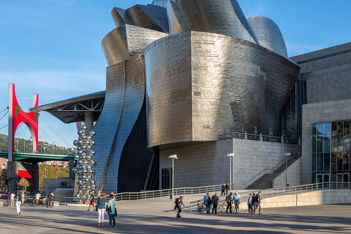 La famosas formas del museo bilbaíno.