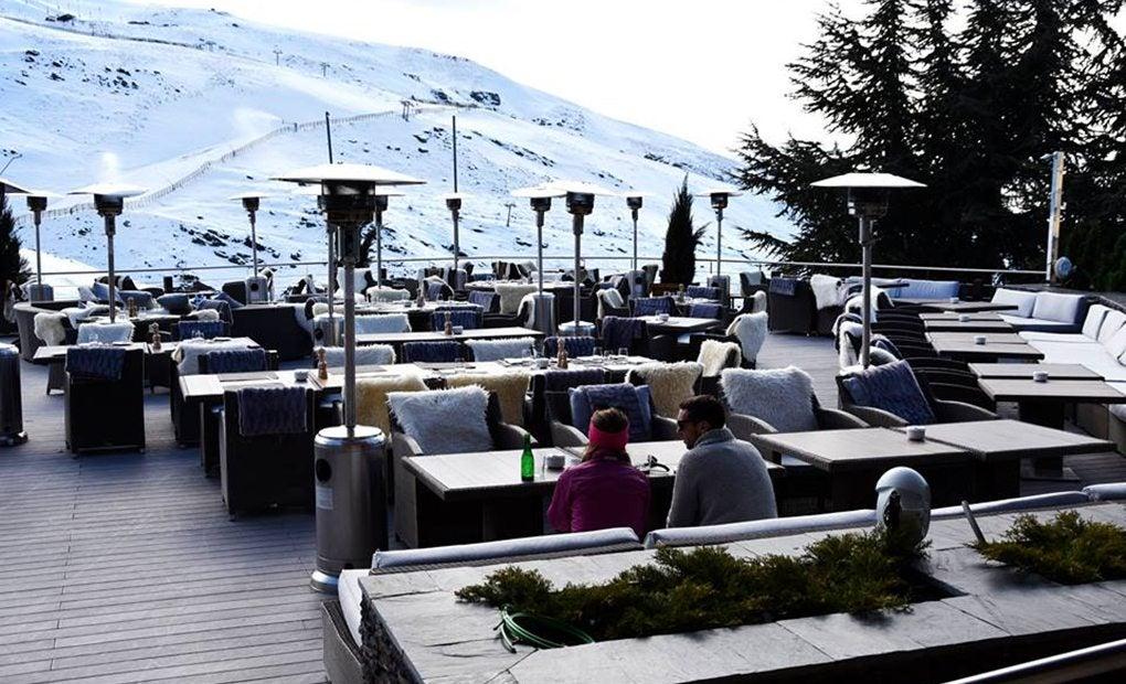 Terraza de Le Lodge.