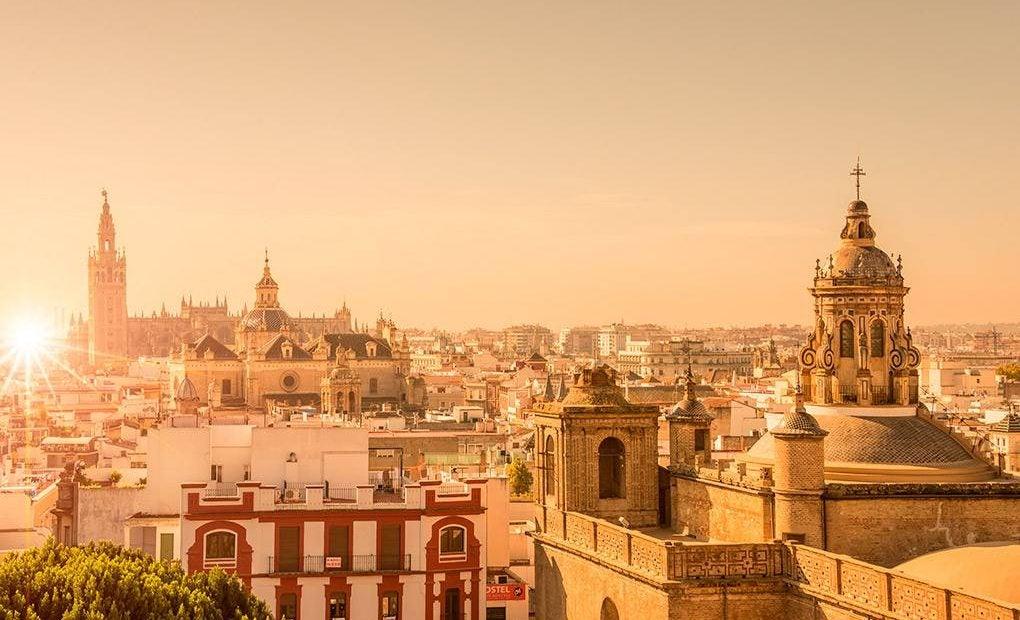 Foto panorámica del centro de Sevilla