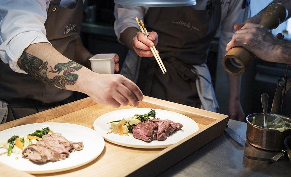 Las cocinas del restaurante Culler de Pau.