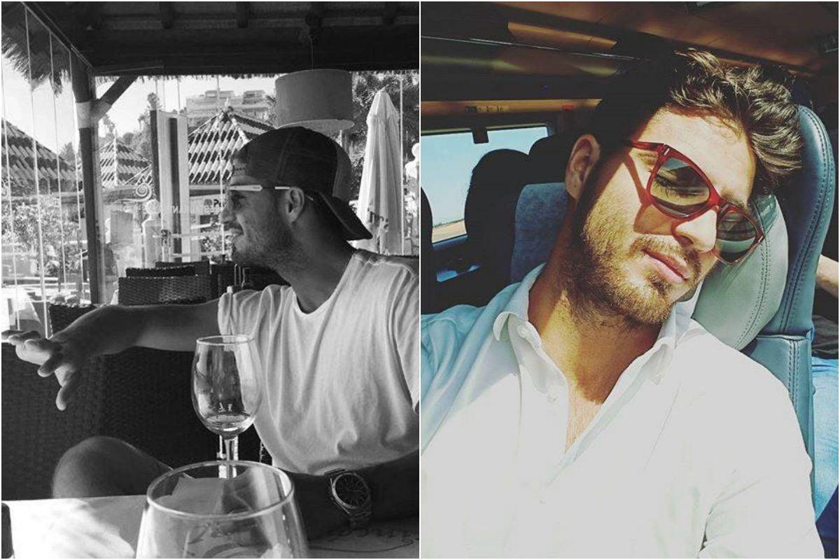 Maxi Iglesias en el AVE y en una terraza