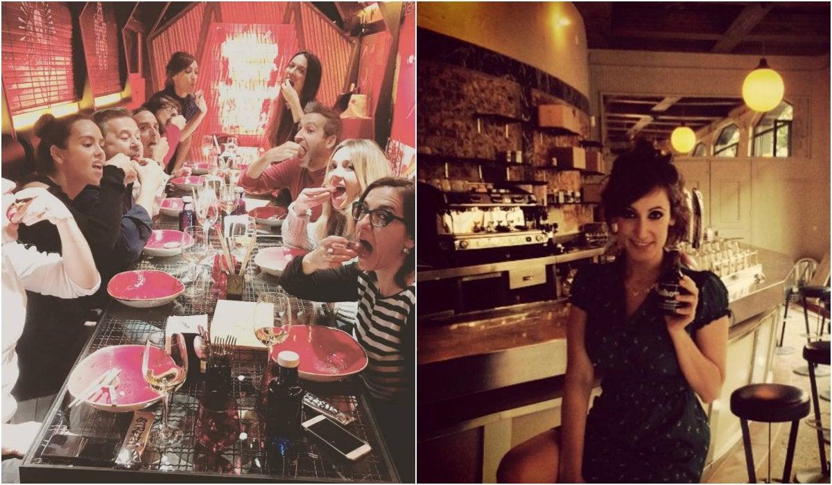 En 'StreetXO' con los compis y tomando una cerveza en el 'Café Pavón'. Foto: @ana_morgade_oficial (Instagram)