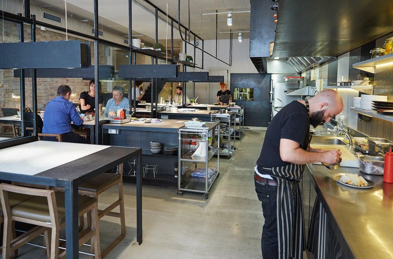 Hetta: cocina y sala