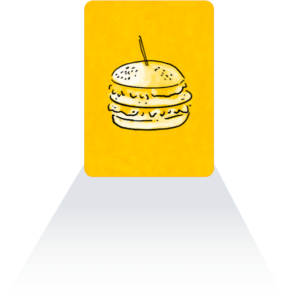 señal de fast food